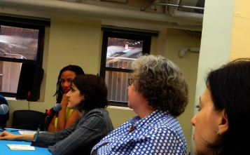 Panelists Shani Jamila, Sienna Baskin, Avaloy Lanning, and Suzanne Tomatore